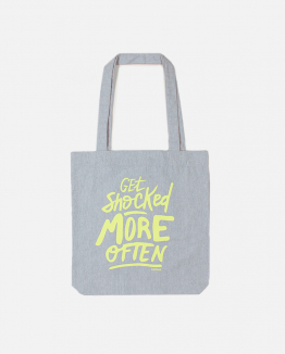 Grey Shocked totebag