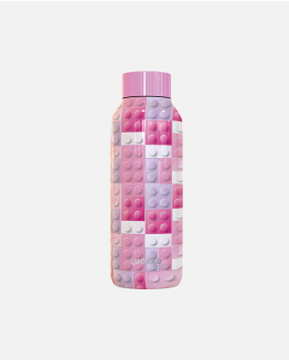 Kids Pink Bricks Bottle
