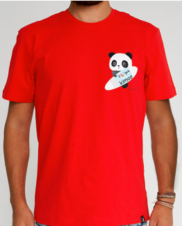 Limited Edition red T-shirt by Domingo Zapata