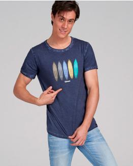 Camiseta Rainbow surfer azul