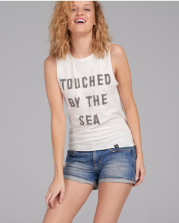 Touched by the sea white tee