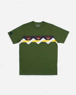 Front Multicolour Green Band Tee