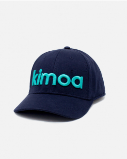 Blue kimoa curve logo cap