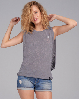 Camiseta Happy inside gris
