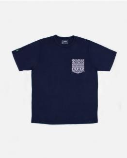 Jacquard pocket Blue