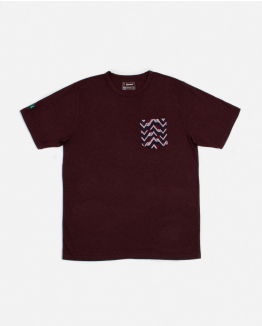 Jacquard pocket Burgundy