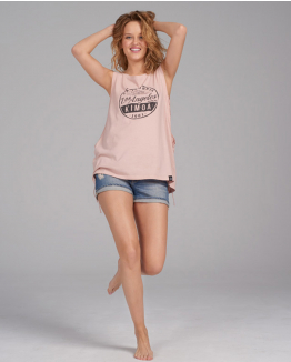 Camiseta Make my day rosa
