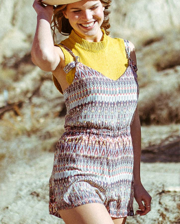 Ethnic Rancho Mirage Playsuit