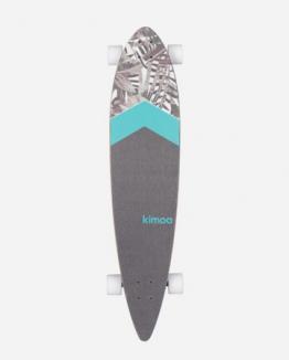 longboard Palm cruiser flores KIMOA blanco Unico Unisex