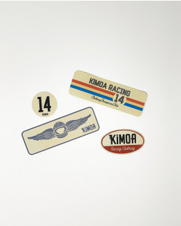 Retro Stickers Pack Kimoa Racing